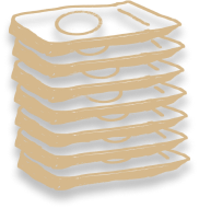 Illustration of stacked packages